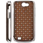 Bling Bling Diamond Chrome Samsung Galaxy W (Brun)